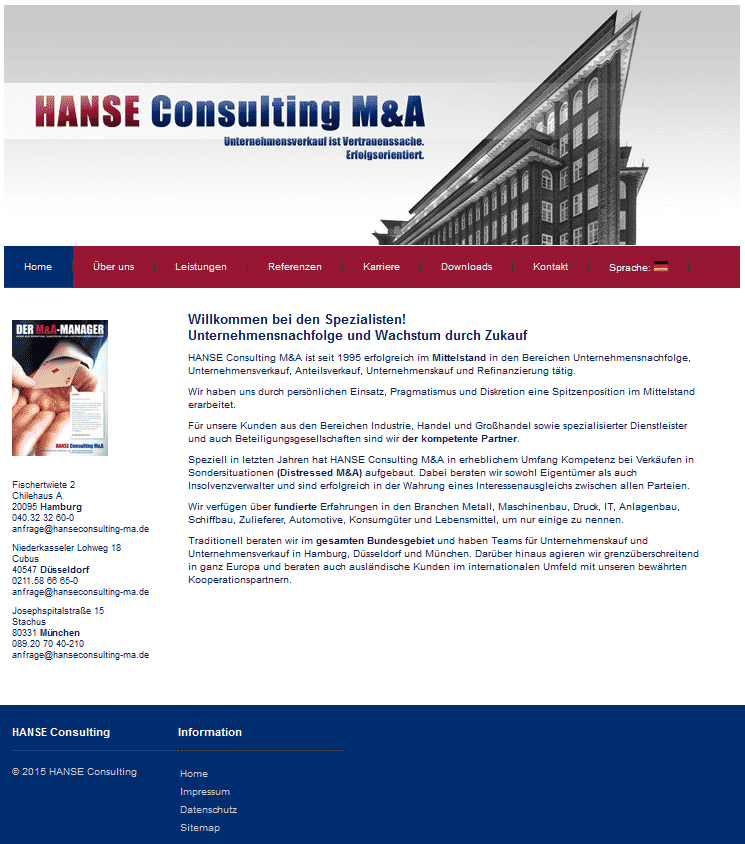 HANSE Consulting Mergers & Acquisitions