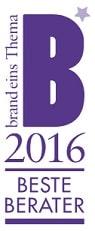 Auszeichnung HANSE Consulting Beste Berater 2016 - Restrukturierung/Sanierung und Strategieberatung